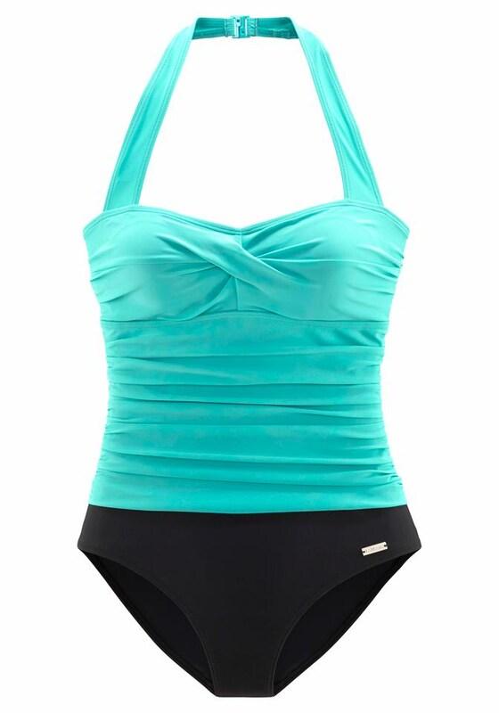 54de50b690a090 LASCANA Strój kąpielowy modelujący sylwetkę w kolorze turkusowy / czarnym |  ABOUT YOU