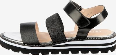 Laufsteg München Sandale in schwarz, Produktansicht