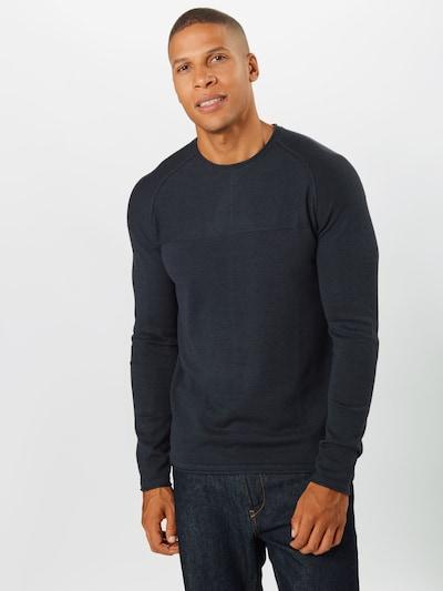 BLEND Sweter w kolorze granatowym: Widok z przodu