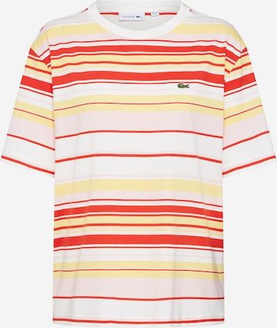 LACOSTE Shirt in mischfarben / feuerrot / offwhite, Produktansicht