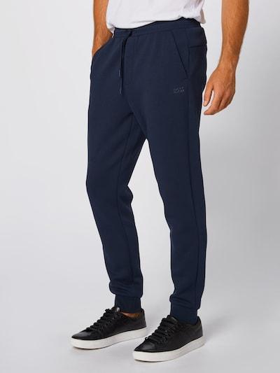 BOSS ATHLEISURE Spodnie 'Hadiko X' w kolorze ciemny niebieskim, Podgląd na modelu(-ce)