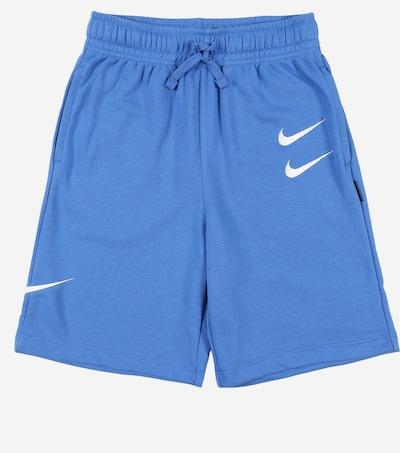 világoskék / fehér Nike Sportswear Sportnadrágok 'SWOOSH', Termék nézet