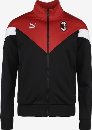 PUMA Jacke 'AC Mailand Iconic MCS' in rot / schwarz / weiß, Produktansicht