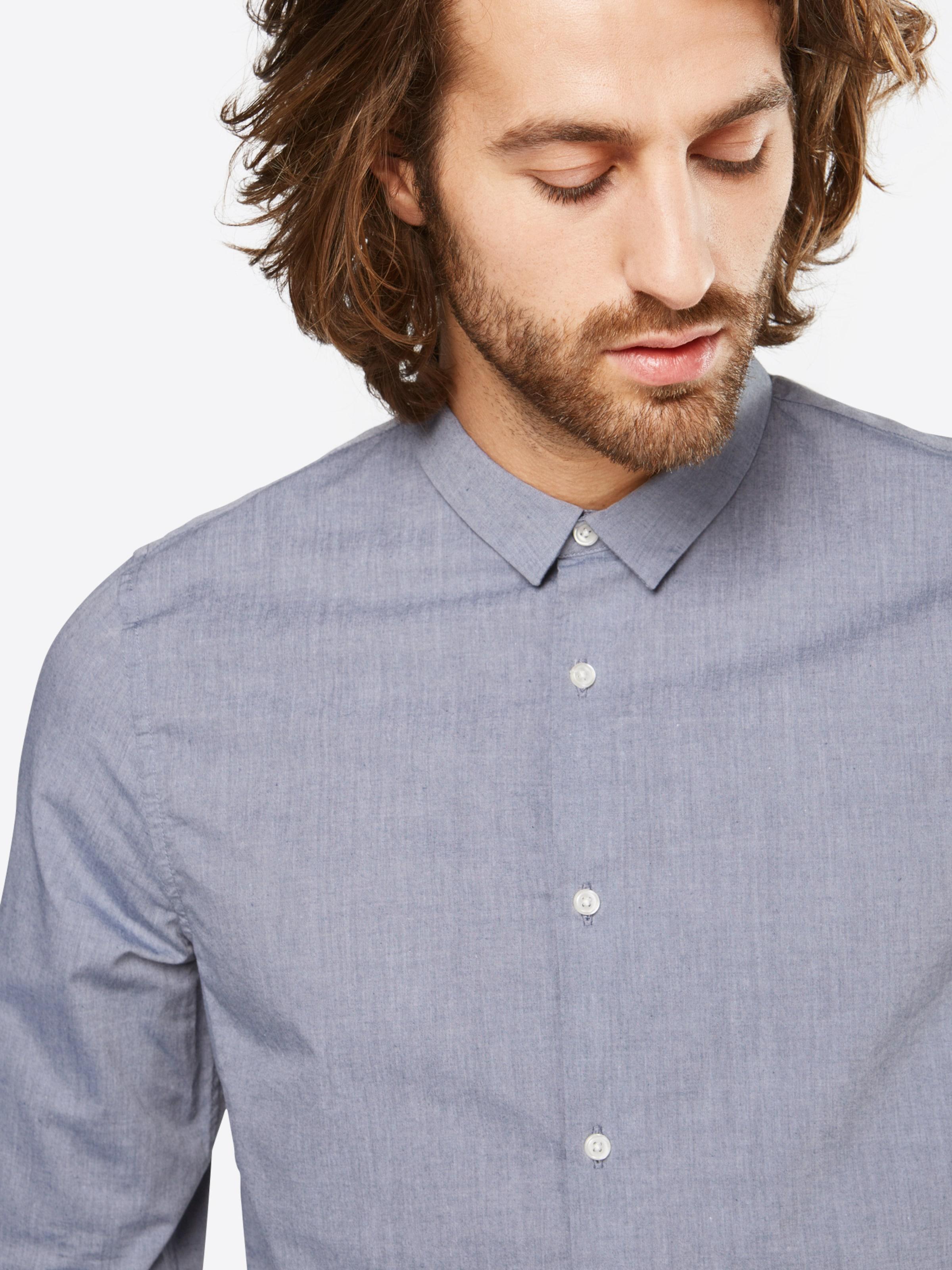 NOWADAYS Hemd 'melange poplin shirt' Wirklich Zum Verkauf Billig Verkauf Breite Palette Von p2YwCx