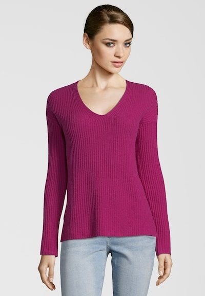 PRINCESS GOES HOLLYWOOD Pullover mit V-Ausschnitt in rot, Modelansicht