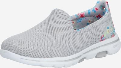 Skechers Performance Slip On cipele 'GO WALK 5 - FLOWERY' u plava / svijetlosiva, Pregled proizvoda