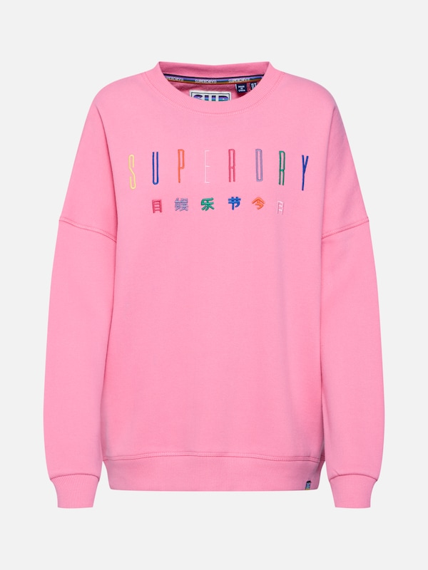 Superdry Sweatshirt 'Carly Carnival' in pink | ABOUT YOU