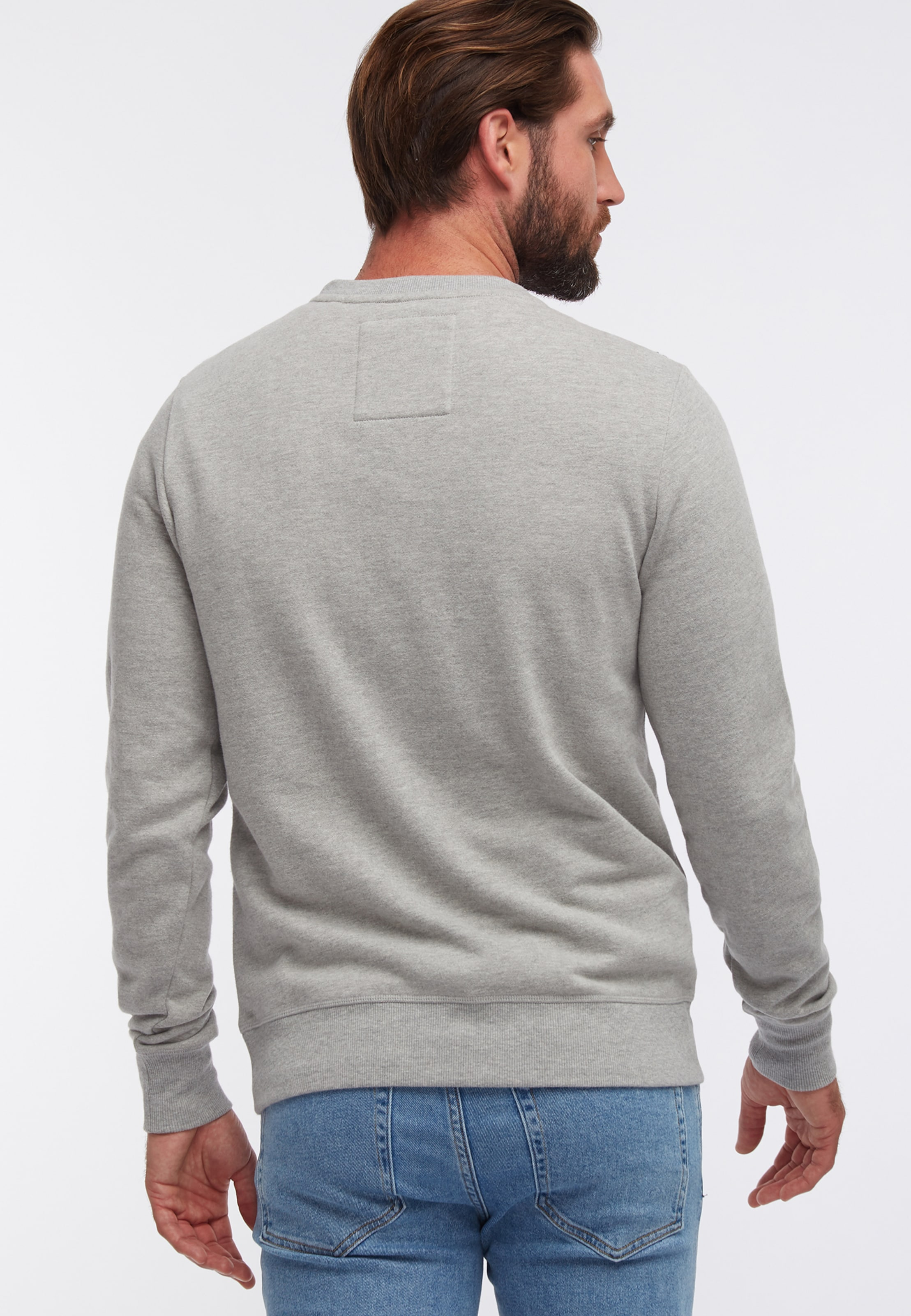 Sweatshirt Graumeliert In Dreimaster In Dreimaster Sweatshirt 1JclKuTF35