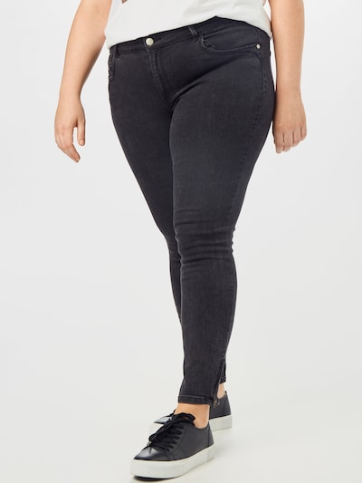 ONLY Carmakoma Jeans 'Karla' in black denim: Frontalansicht