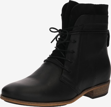 HUB Lace-Up Ankle Boots 'Hally' in Black