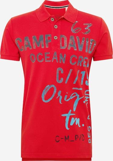 Tricou CAMP DAVID pe albastru deschis / roșu, Vizualizare produs