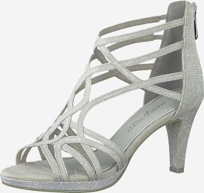 MARCO TOZZI Sandali s paščki | svetlo siva barva, Prikaz izdelka