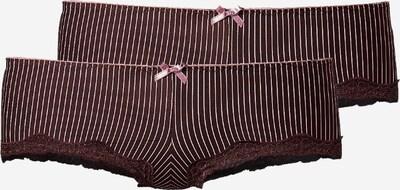 H.I.S Panty in dunkelbraun / rosa, Produktansicht