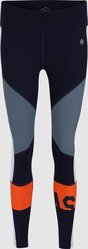 ASICS Sport-Hosen 'Farbe BLOCK CROPPED  TIGHT 2' in blau   grau   Orange  Markenkleidung für Männer und Frauen