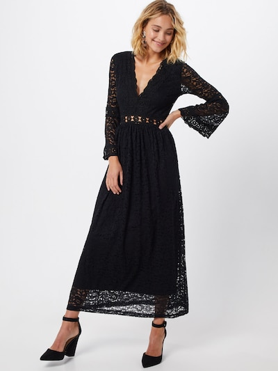 Carolina Cavour Kleid 'midi lace dress' in schwarz: Frontalansicht