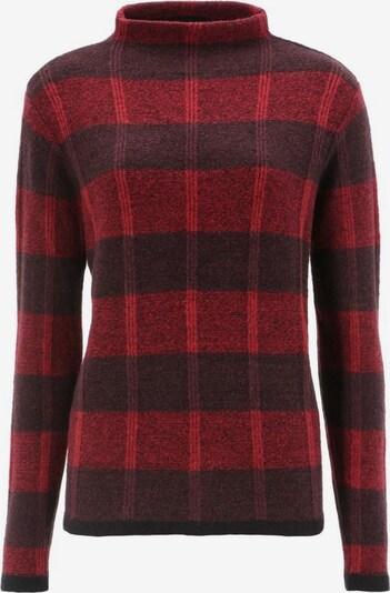 Aniston SELECTED Pullover in pflaume / bordeaux / schwarz, Produktansicht