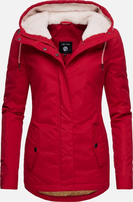 Peak Time Winterjacke 'L60062' in rot, Produktansicht