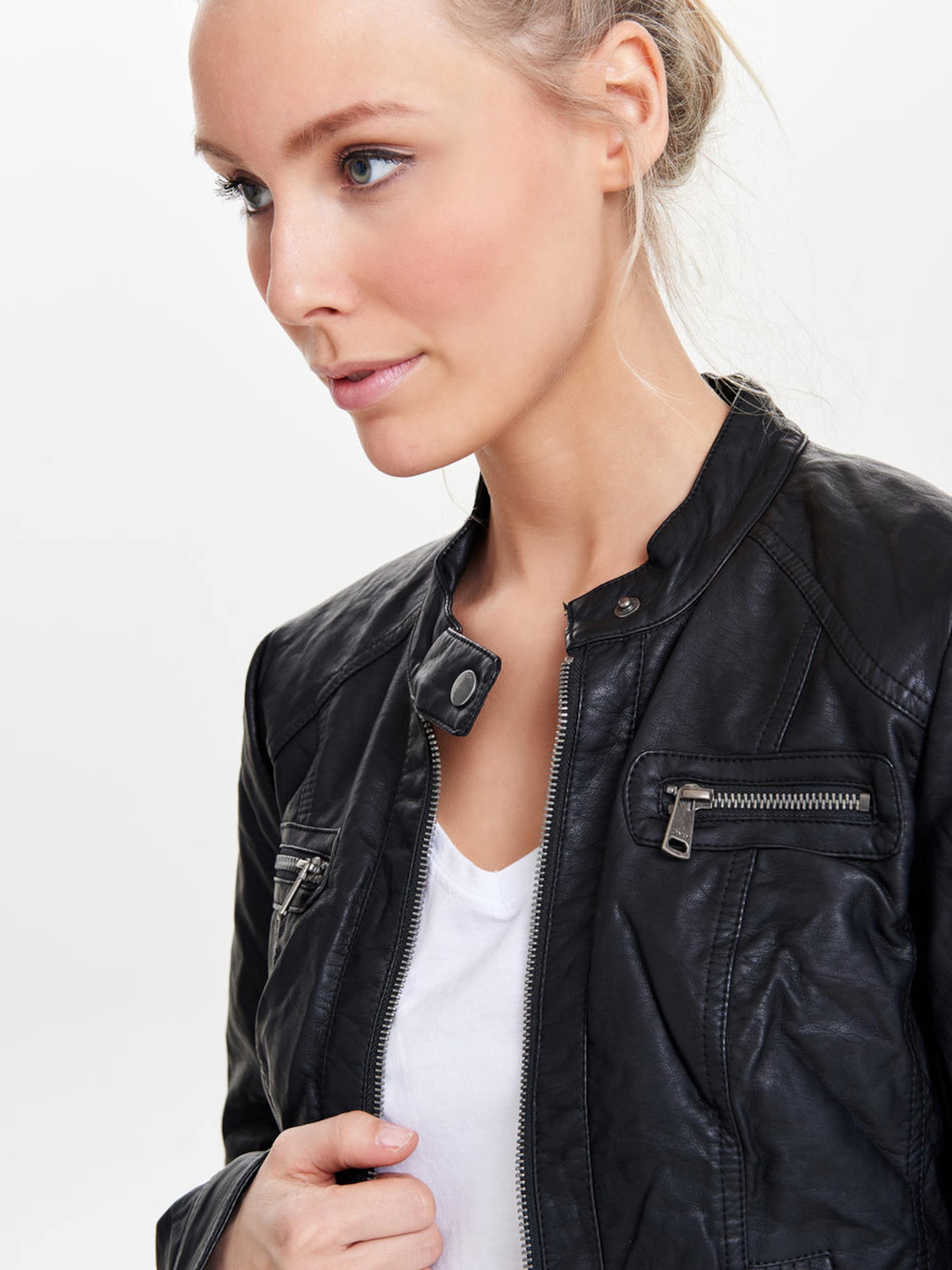Klassische Online Rote Vorbestellung Eastbay ONLY Jacke in Leder-Optik 'Bandit' gMmLO46TTh
