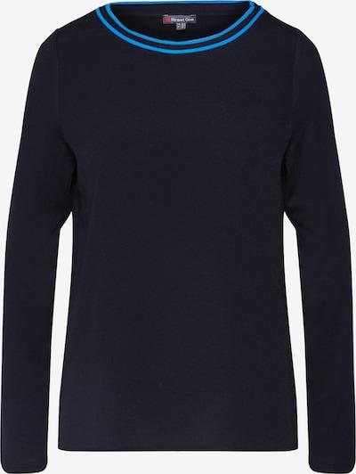 Marškinėliai 'mat-mix shirt w.kick neckline' iš STREET ONE , spalva - juoda: Vaizdas iš priekio