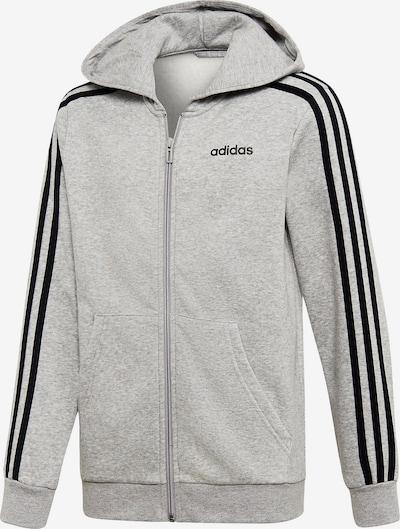 ADIDAS PERFORMANCE Sweatjacke' YB ES FZ' in grau / schwarz, Produktansicht