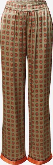 Pantaloni 'Amelia' Cecilie Copenhagen pe piatră / kaki / portocaliu închis, Vizualizare produs