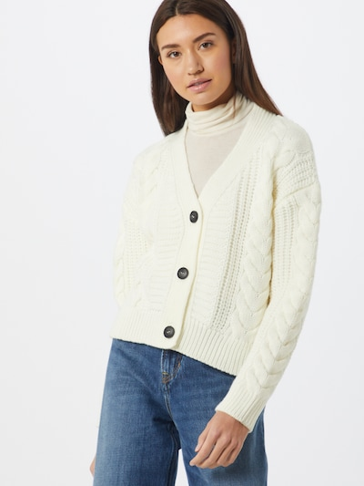 NEW LOOK Strickjacke  'CABLE' in offwhite, Modelansicht
