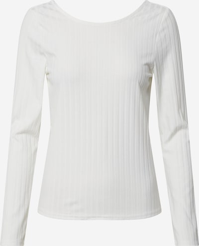 ONLY Shirt 'ONLGINA L/S DEEP BACK TOP JRS' in de kleur Offwhite, Productweergave