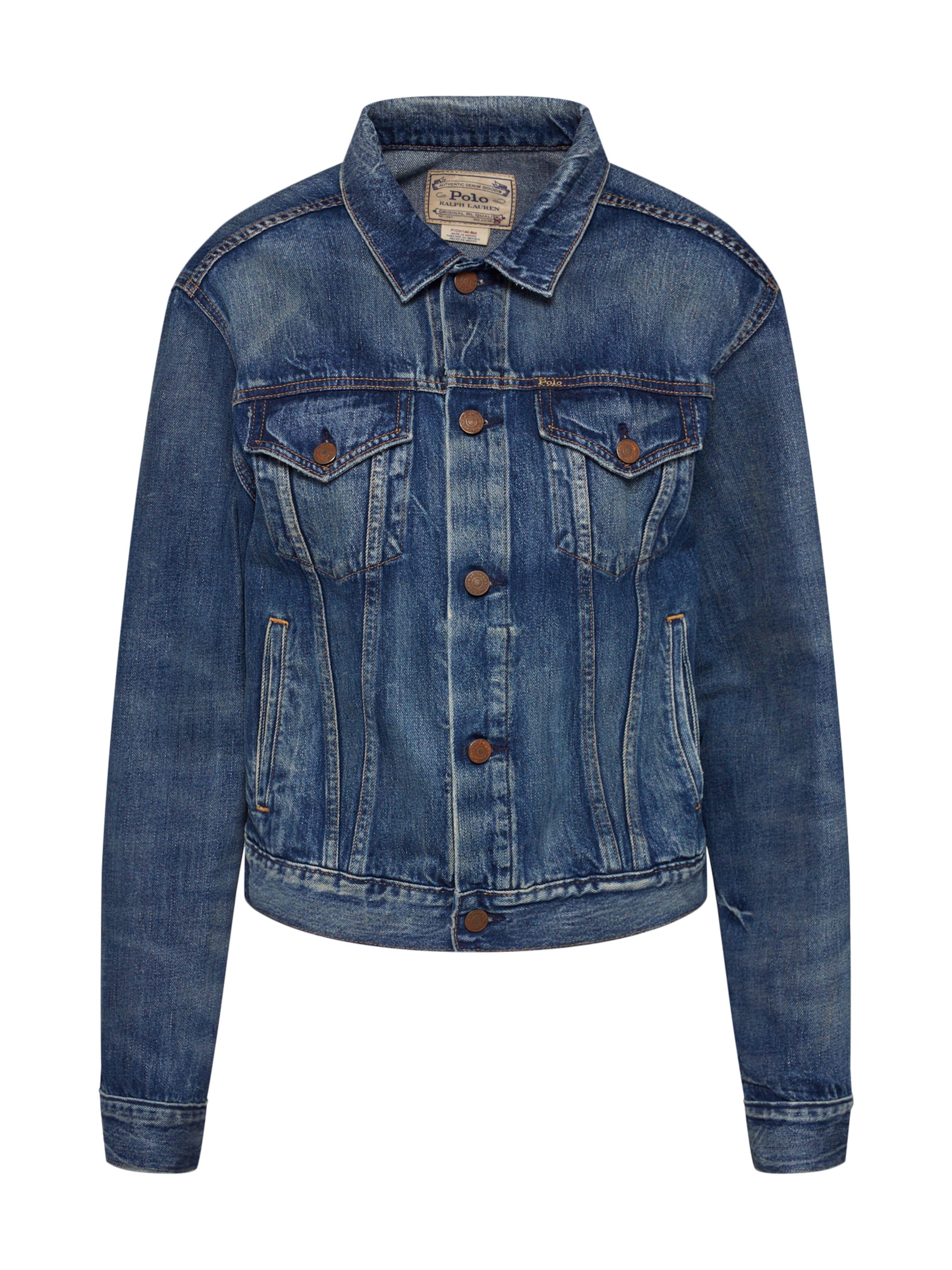 Lauren Polo saison jacket' Veste Denim 'trucker En Bleu Mi Ralph yvm8PN0Onw