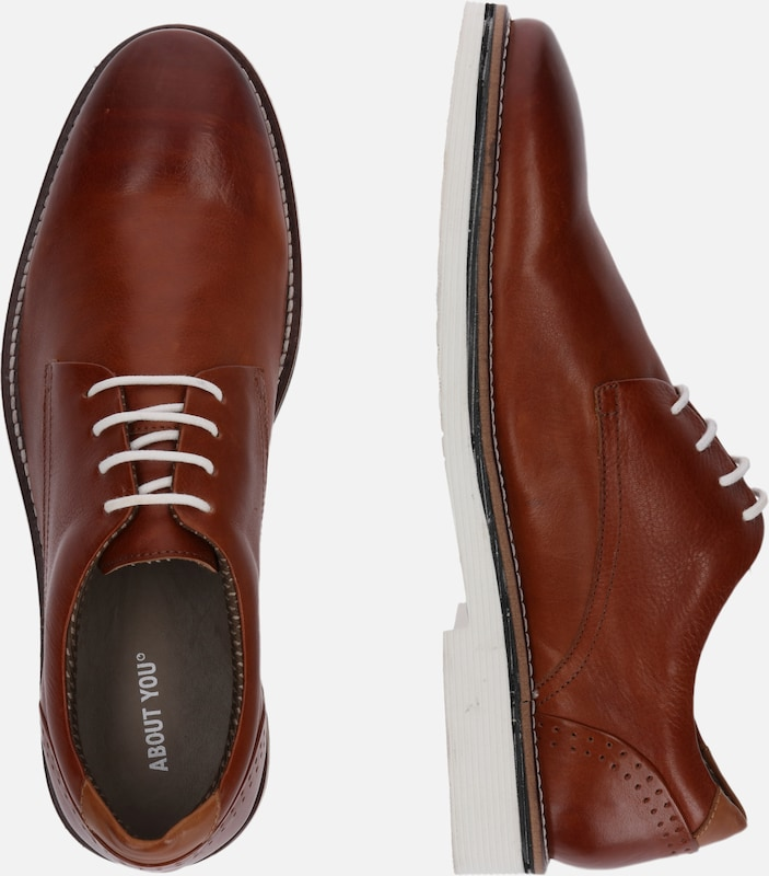 ABOUT YOU Halbschuhe 'Jamie' in cognac | ABOUT YOU