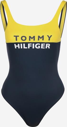 TOMMY HILFIGER Badeanzug in dunkelblau / gelb / weiß, Produktansicht