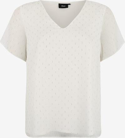 Zizzi T-shirt 'XMELIA' en argent / blanc, Vue avec produit
