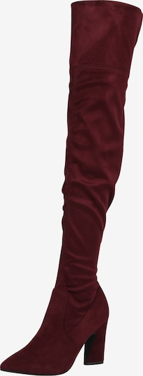 Cizme peste genunchi Bianco pe burgund, Vizualizare produs