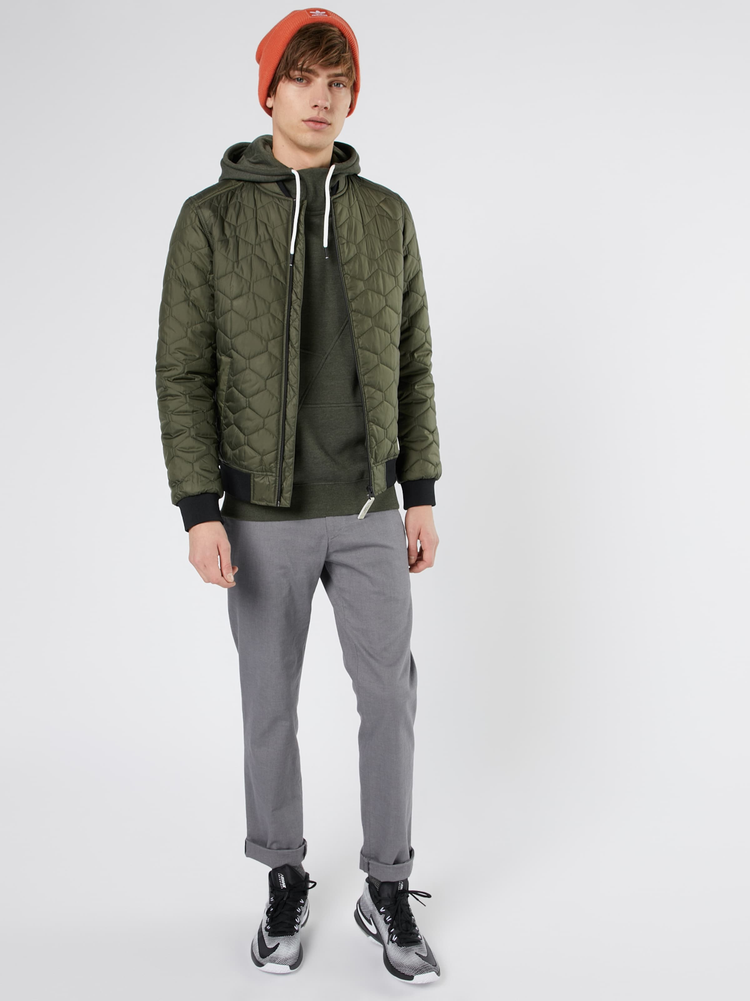 Sweater Sweat Dunkelgrün 'jcopinn Jones In Jackamp; Noos' Hood TFcuK1Jl53