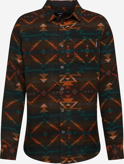 Iriedaily Hemd 'Santania' in rostbraun / grün / schwarz, Produktansicht