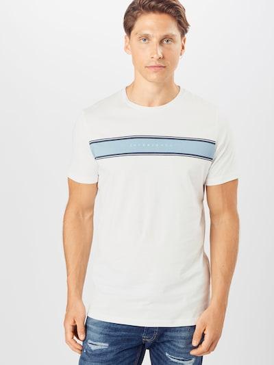 JACK & JONES T-Shirt 'LOGANS' en bleu clair / bleu foncé / blanc cassé: Vue de face