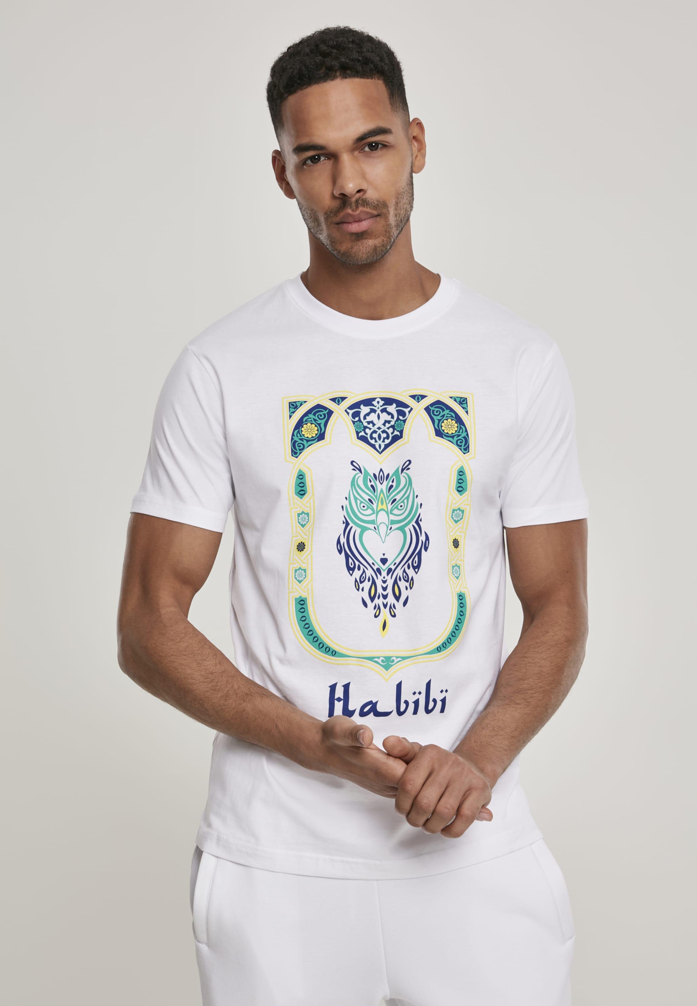 Mister Tee T-Shirt 'Habibi Owl' in hellgelb / grün / schwarz / weiß Jersey MT927-00220-0042