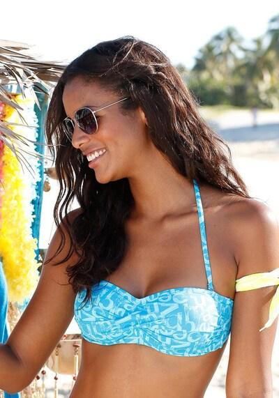 VENICE BEACH Bandeau-Top in türkis / himmelblau, Modelansicht
