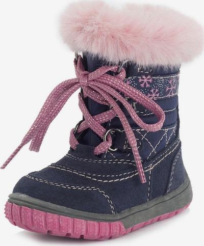 LURCHI Lauflernschuh in dunkelblau / rosa, Produktansicht