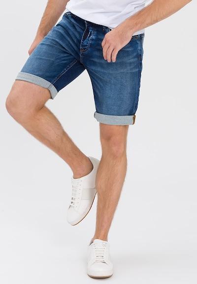 Cross Jeans Jeansshorts 'Leom' in blue denim: Frontalansicht