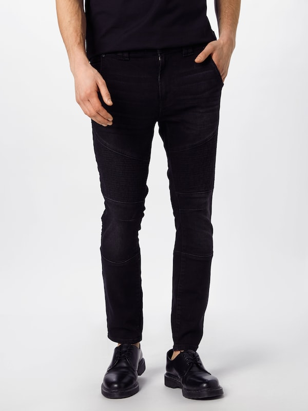 BURTON MENSWEAR LONDON Jeans 'BIKER' in black denim, Modelansicht