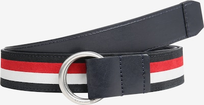 TOMMY HILFIGER Riem 'URBAN O RING INTARSIA 3.5' in de kleur Blauw / Rood / Wit, Productweergave