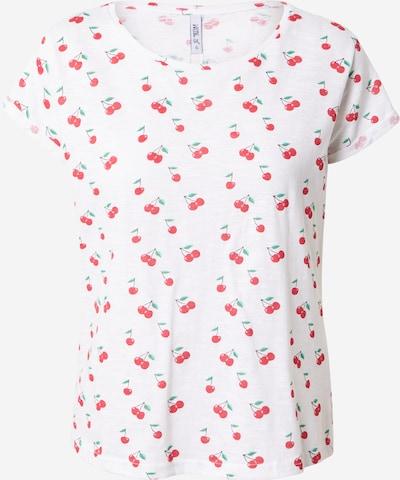 Hailys T-shirt 'Enya' en vert / rouge / blanc cassé, Vue avec produit
