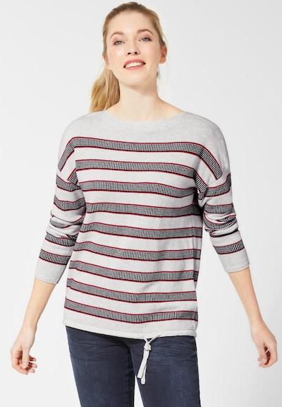CECIL Pullover in rot / schwarz / weiß / weißmeliert, Modelansicht