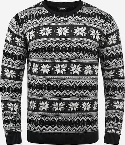 !Solid Pullover 'Winno' in schwarz / weiß, Produktansicht