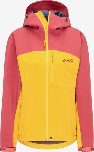 PYUA Skijacke 'Gorge' in gelb / pitaya, Produktansicht