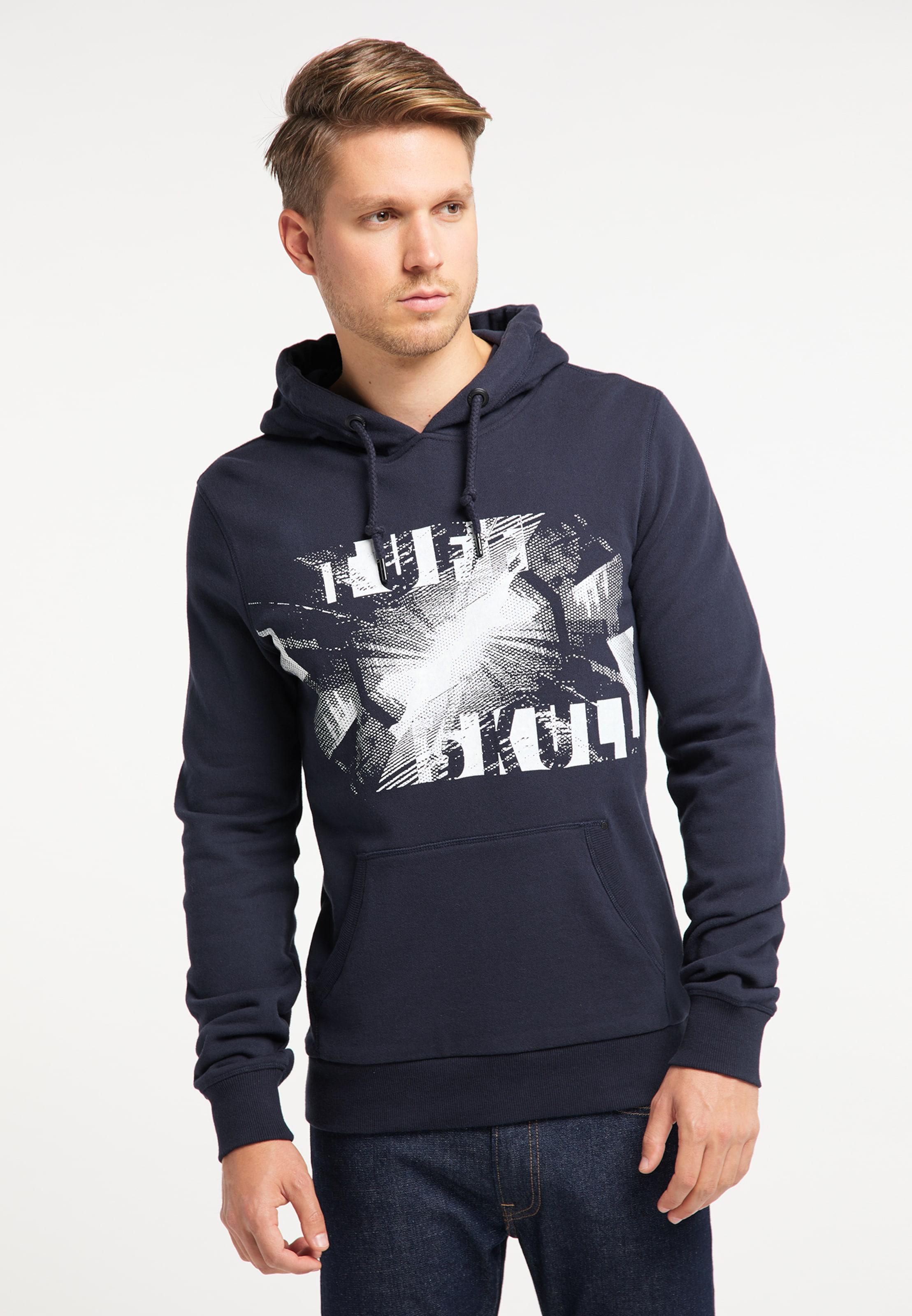 TUFFSKULL Sweatshirt in marine / weiß Sweatstoff 4059275432043