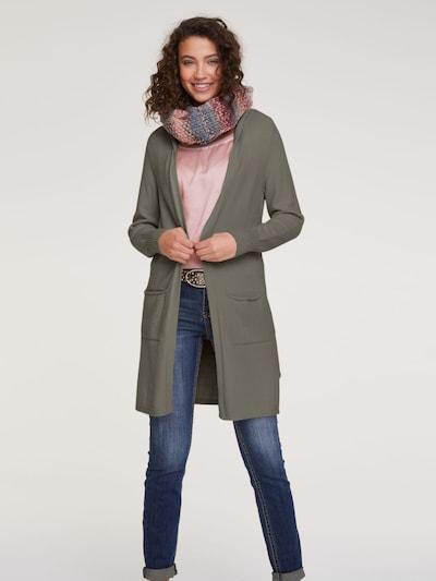 heine Strickjacke 'Casual' in oliv, Modelansicht