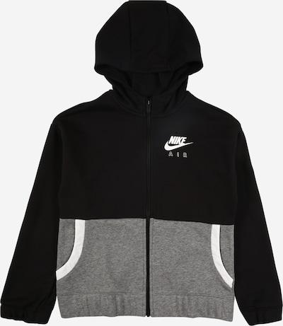 Nike Sportswear Sweatjacke in grau / schwarz, Produktansicht