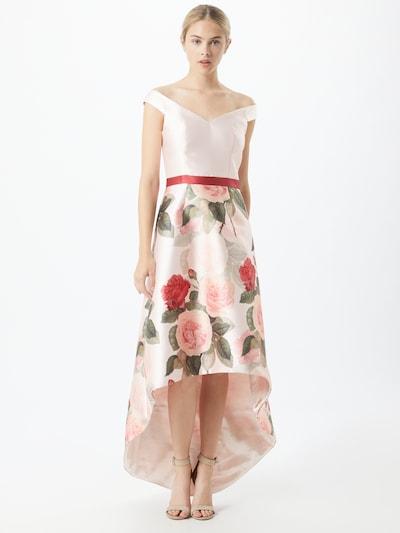 Chi Chi London Kleid in grün / rosé / rot, Modelansicht