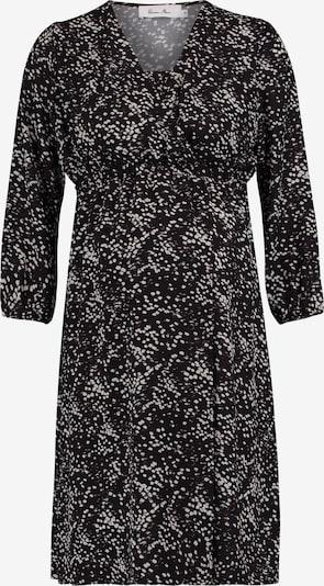 QUEEN MUM Still-Kleid in schlammfarben / schwarz: Frontalansicht